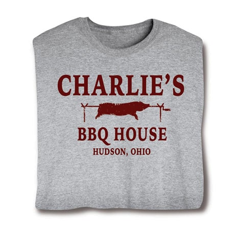 """Personalized """"Your Name"""" BBQ House Shirt"""