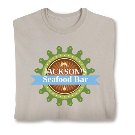 """Personalized """"Your Name"""" Seafood Bar Shirt"""