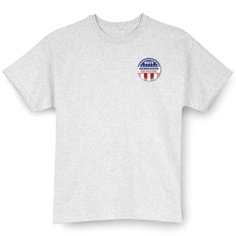 """Personalized Vote """"Your Name"""" For President Small Button Shirt"""