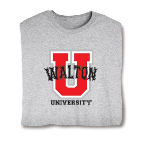 "Personalized ""Your Name"" Red ""U"" University Shirt"