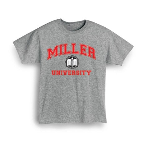 "Personalized ""Your Name"" University Shirt (Red)"