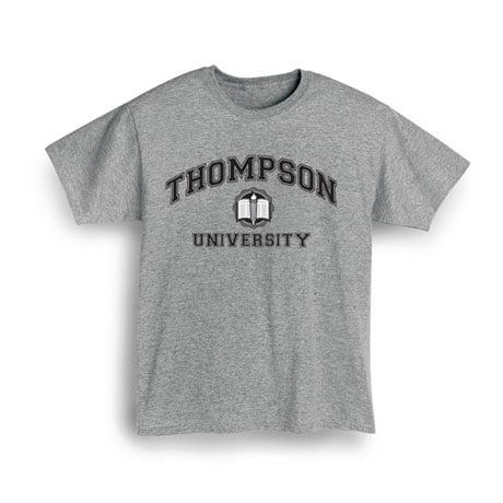"Personalized ""Your Name"" University Shirt (Black)"