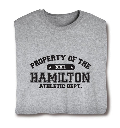 Personalized Property of 'Your Name' XXL T-Shirt