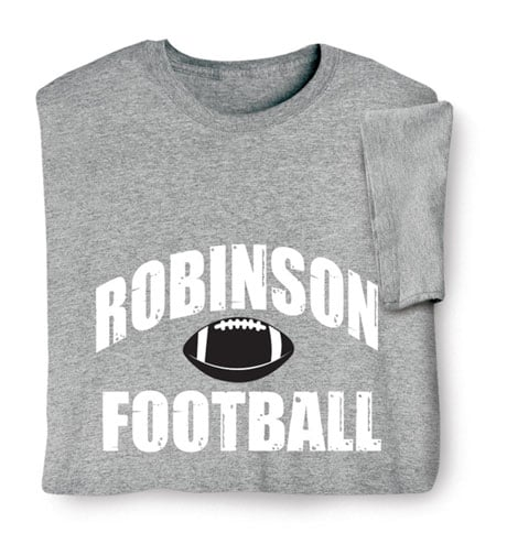 """Personalized """"Your Name"""" Football T-Shirt"""