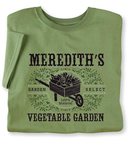 Personalized 'Your Name' Vegetable Garden Shirt