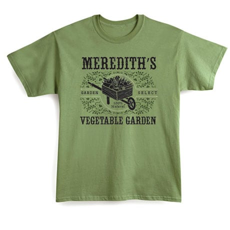 """Personalized """"Your Name"""" Vegetable Garden Shirt"""
