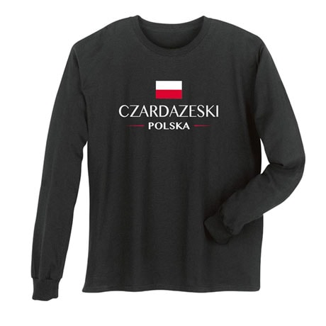 "Personalized ""Your Name"" Polish National Flag Shirt"