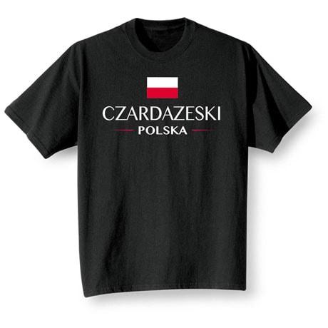 "Personalized ""Your Name"" Polish National Flag Shirt"