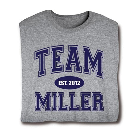 Personalized 'Your Name & Date' Family Team Shirt