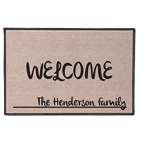 Personalized 'Your Name' Doormat -  Contemporary