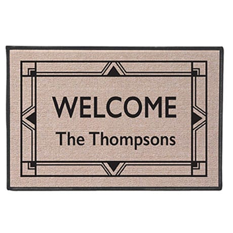 Personalized 'Your Name' Doormat - Art Deco