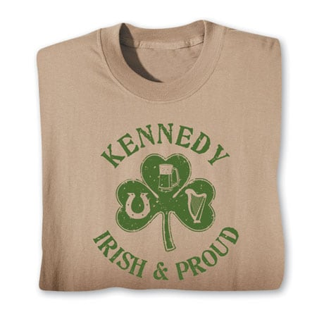 "Personalized ""Your Name"" Irish & Proud Shirt"