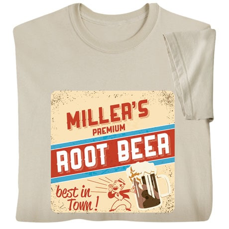 "Personalized ""Your Name"" Premium Root Beer Retro T-Shirt"