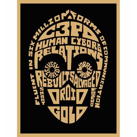 Star Wars™ Typography Canvas Print - C3Po