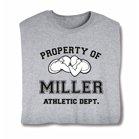 """Personalized Property of """"Your Name"""" Wrestling T-Shirt"""