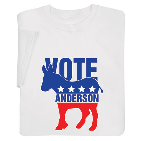 "Personalized ""Your Name"" Election - Donkey Shirt"