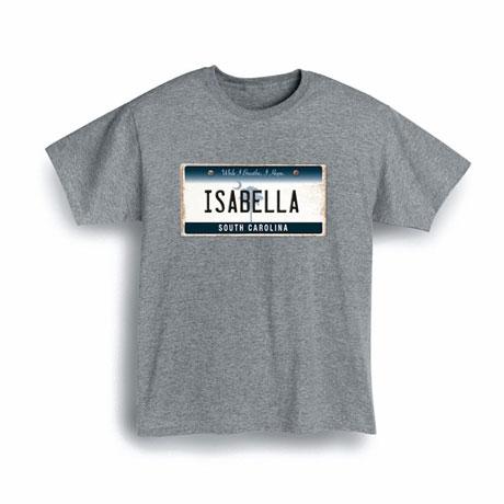 Personalized State License Plate Shirts - South Carolina