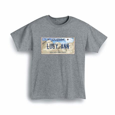 Personalized State License Plate Shirts - South Dakota