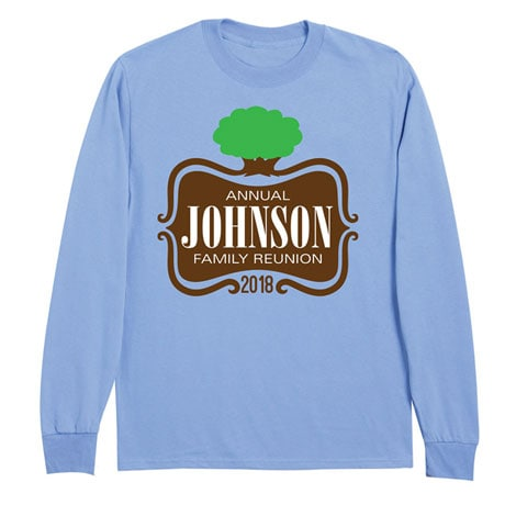 Personalized Your Name Tree Logo Family Reunion Shirt