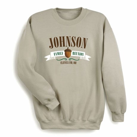 Personalized Your Name Acorn Family Reunion Shirt