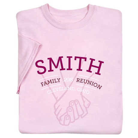 Personalized Your Name Holding Hands Family Reunion Shirt