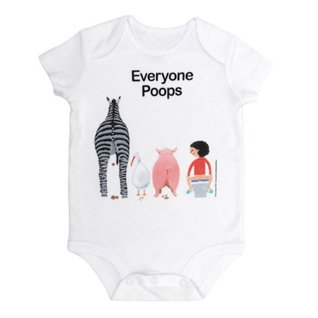 Everyone Poops Snapsuit and Toddler Tee
