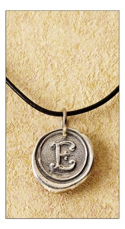Signals - Gifts That Inform, Enlighten & Entertain :  necklace initial signals pendant
