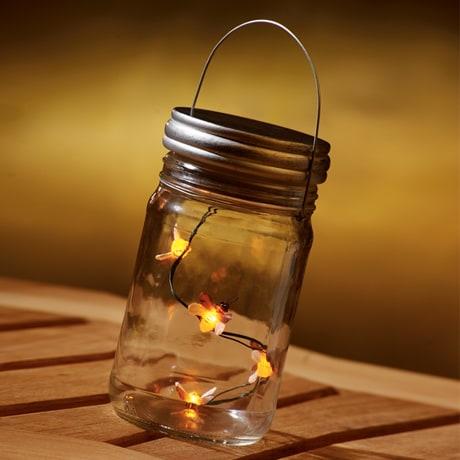 Faux Fireflies Jar