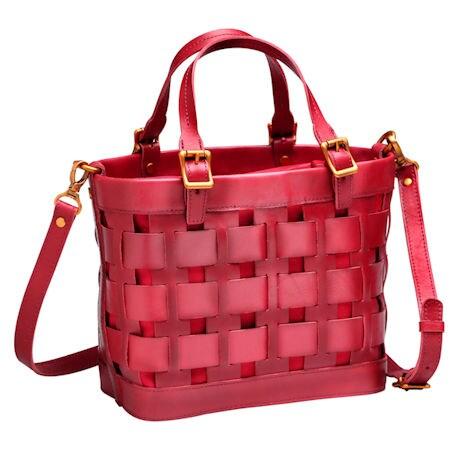 Leather Basket Handbag