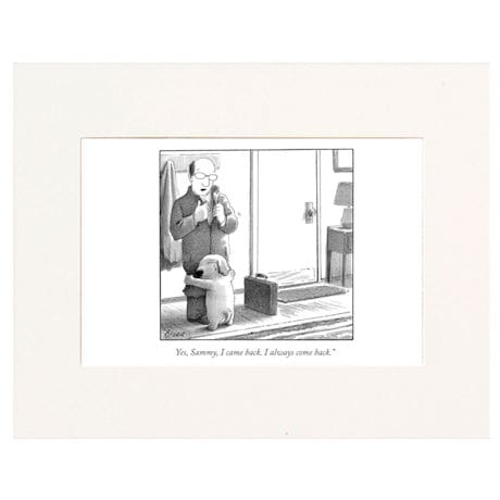 I Always Come Back Personalized New Yorker Cartoonist Cartoon - Matted