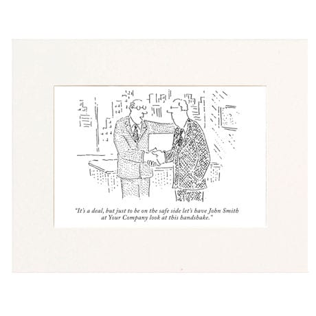 It's a Deal Personalized New Yorker Cartoonist Cartoon - Matted