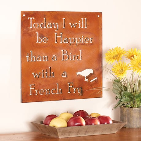 Happier Than a Bird with a French Fry Wall Art