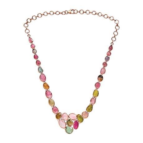 Tourmaline Cluster Necklace
