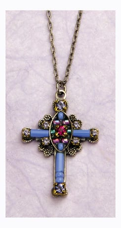 Lavender Cross Necklace $40