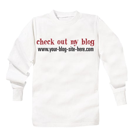 Personalized Check Out My Blog T-Shirt