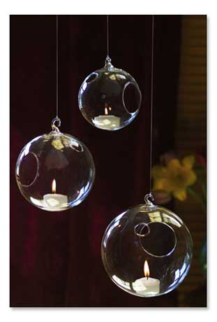 Signals - Gifts That Inform, Enlighten & Entertain :  home garden hanging glass globes