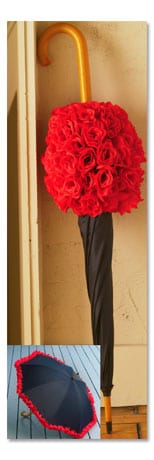 Signals - Roses Umbrella :  umbrella black and red red and black ladylike