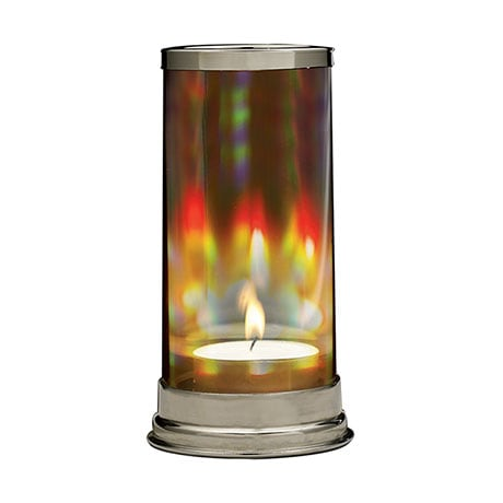 Rainbow Prism Crystal Candleholder