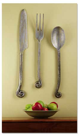 Signals - Gifts That Inform, Enlighten & Entertain :  knife wall hanging entertain spoon