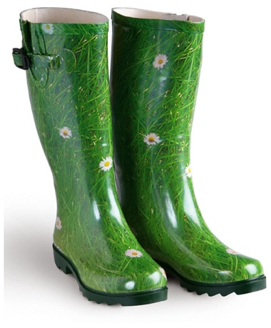 Field of Daisies Rubber Rain Boots
