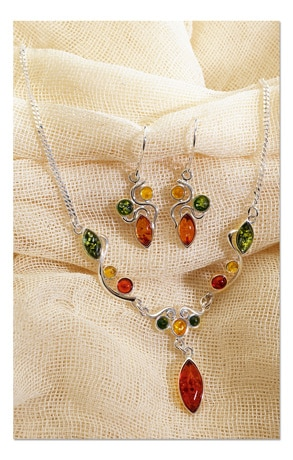 Art Deco Amber Jewelry :  deco baltic amber silver art deco