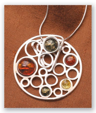 Amber Bubbles Necklace