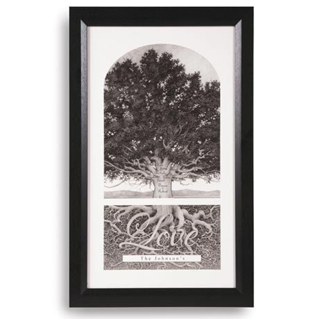"""Personalized Family Tree Print - 15"""" X 25"""""""