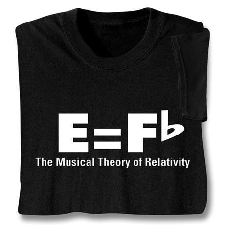 Music Theory of Relativity Shirts