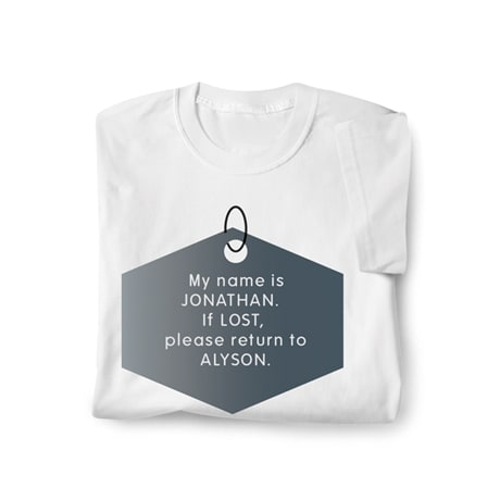 Personalized If Lost Shirt