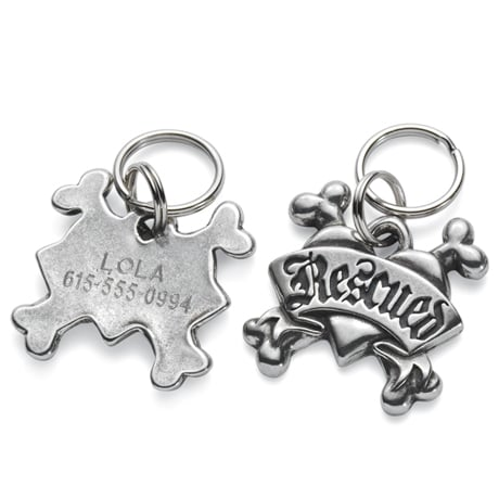 Personalized Pet Tags - Rescued Tag