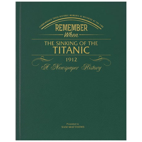 The Titanic Story Daily Mirror Newspaper - Personalized