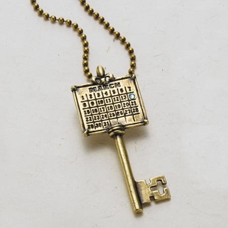 Personalized Your Special Day Key Pendant - Antique Brass