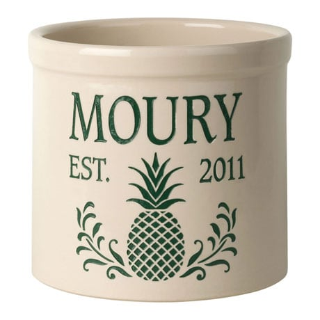 Personalized Pineapple Crock