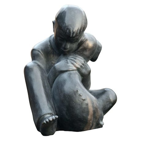 Boy & Dog Sculpture